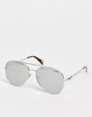 Солнцезащитные очки-авиаторы с отражающим эффектом 2/S-Серебристый Marc Jacobs