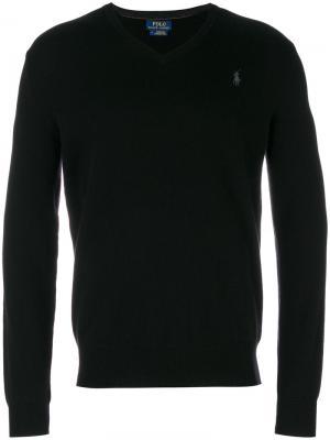 Толстовка с V-образным вырезом Polo Ralph Lauren. Цвет: черный