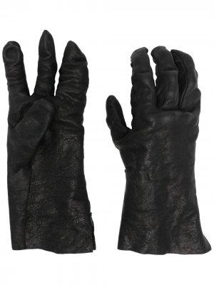 Перчатки с жатым эффектом Boris Bidjan Saberi. Цвет: черный