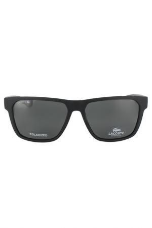 Очки солнцезащитные Lacoste. Цвет: черный