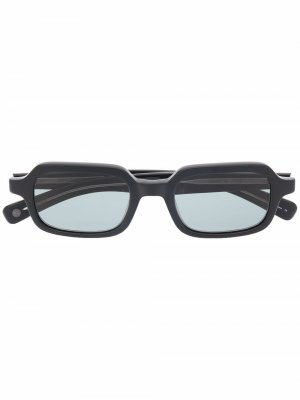 Солнцезащитные очки Navarre в квадратной оправе Garrett Leight. Цвет: черный