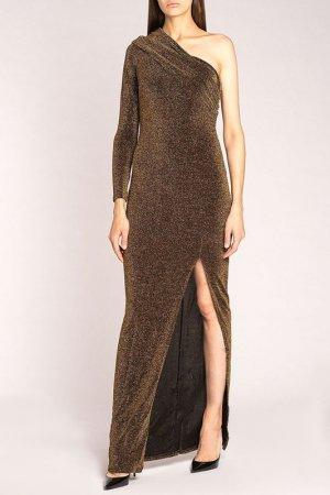 Платье FOREVER UNIQUE. Цвет: золото