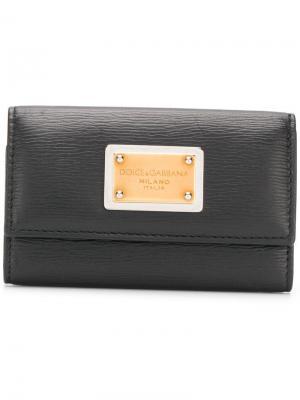 Ключница с логотипом Dolce & Gabbana. Цвет: черный