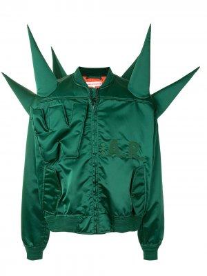 W:A.R. bomber jacket Walter Van Beirendonck. Цвет: зеленый