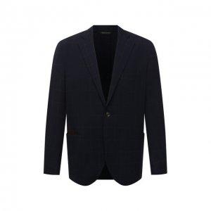 Пиджак Luciano Barbera. Цвет: синий