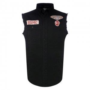 Джинсовая рубашка Genuine Motorclothes Harley-Davidson. Цвет: чёрный