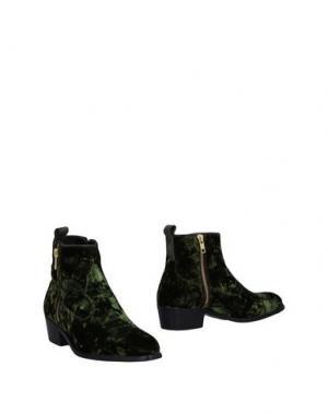 Полусапоги и высокие ботинки ALEXANDER HOTTO. Цвет: темно-зеленый