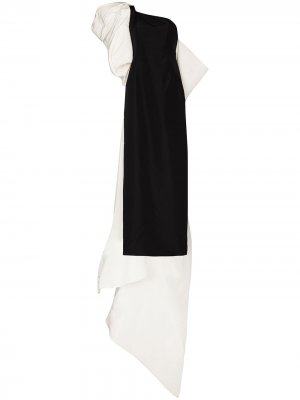 Платье на одно плечо Carolina Herrera. Цвет: черный