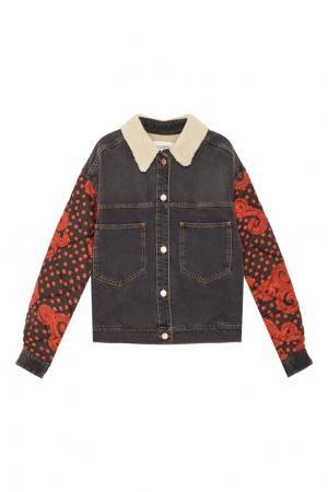 Текстильная куртка-бомбер Chrissa с отделкой Isabel Marant Etoile. Цвет: multicolor