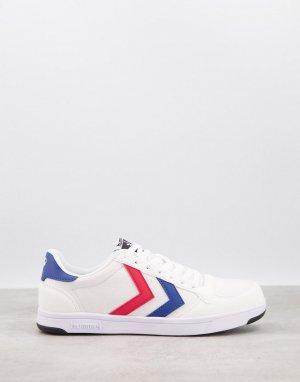 Белые кроссовки из легкой парусины Stadil-Белый Hummel