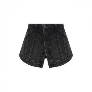 Джинсовые шорты Denim X Alexander Wang. Цвет: серый