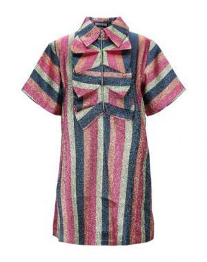 Короткое платье HOUSE OF HOLLAND. Цвет: фуксия