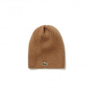 Вязаная шапка Lacoste. Цвет: черный, темно-синий