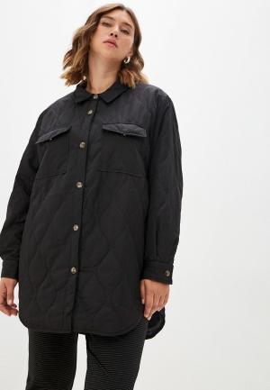 Куртка утепленная Vero Moda Curve. Цвет: черный