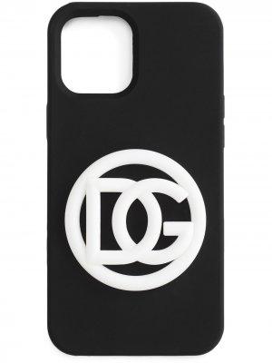 Чехол для iPhone 11 Pro с логотипом DG Dolce & Gabbana. Цвет: черный
