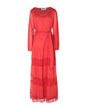 Длинное платье MARTA STUDIO. Цвет: красный