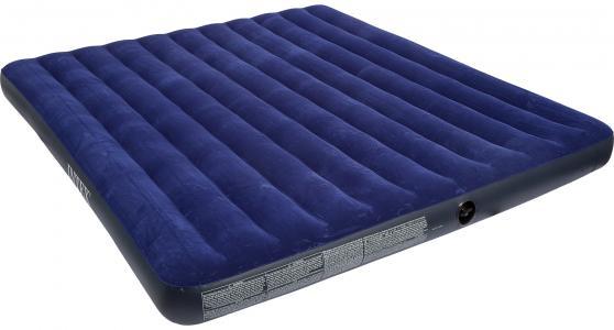 Матрас надувной Classic Downy Bed King Intex. Цвет: синий