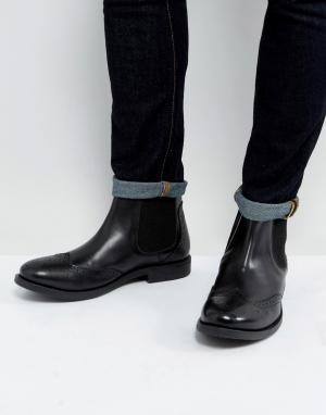 Черные кожаные броги -Светло-коричневый Frank Wright