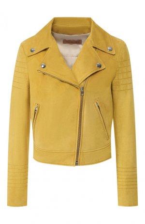 Кожаная куртка Yves Salomon. Цвет: жёлтый