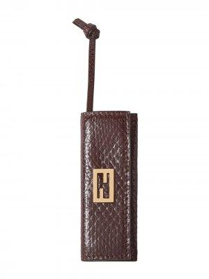 Расческа с футляром Fendi. Цвет: коричневый