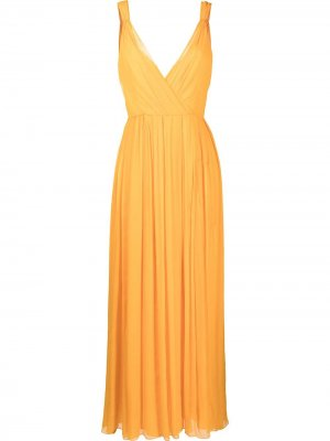 Платье макси со складками Jason Wu. Цвет: оранжевый