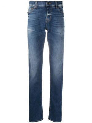 Ronnie mid-rise skinny jeans 7 For All Mankind. Цвет: синий
