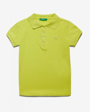 Поло пике с лого Benetton. Цвет: желтый