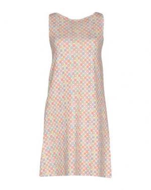 Короткое платье B.YU. Цвет: бежевый