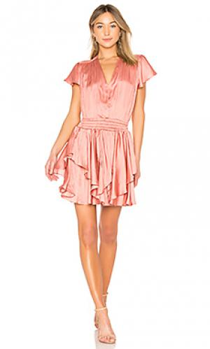 Платье flounce Halston Heritage. Цвет: розовый
