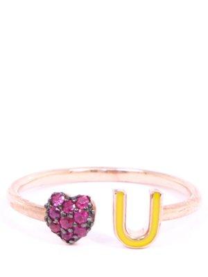 Романтичное кольцо со стразами AAMAYA PRIYANKA. Цвет: разноцветный