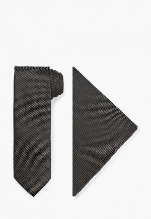 Галстук и платок Ir.Lush. Цвет: черный