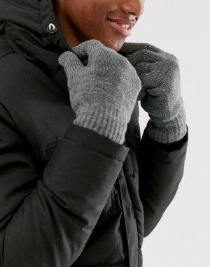 Серые перчатки -Серый Only & Sons