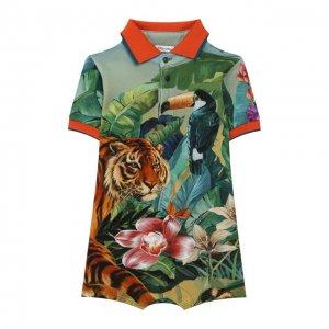 Хлопковый комбинезон Dolce & Gabbana. Цвет: разноцветный
