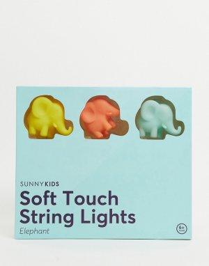 Гирлянда с лампочками в виде слонов -Многоцветный Sunnylife