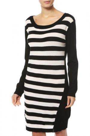 Платье Liu Jo. Цвет: черный, белый, полоска
