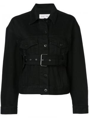 Джинсовая куртка PSWL с поясом Proenza Schouler. Цвет: черный