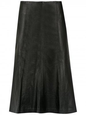 Pleated midi skirt Clé. Цвет: черный