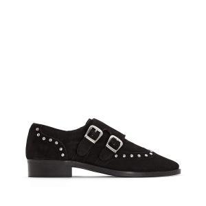 Ботинки-дерби из замши Ebony Musse & Cloud COOLWAY. Цвет: черный