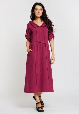 Платье Dimma. Цвет: бордовый