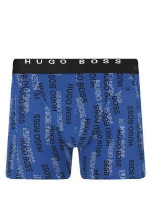 Трусы Boxer Brief Print Business (2 шт) BOSS. Цвет: chernyy