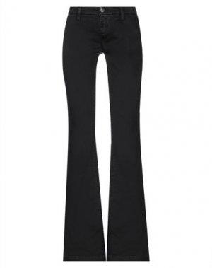 Повседневные брюки CARE LABEL. Цвет: черный