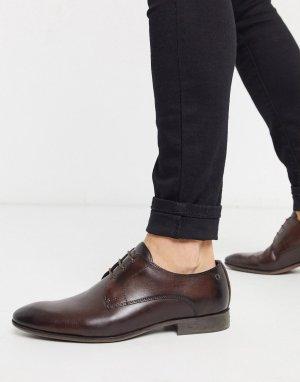Коричневые кожаные туфли Base london-Коричневый London