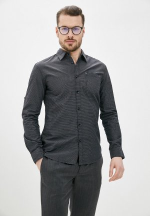 Рубашка Al Franco. Цвет: серый