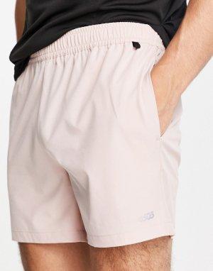 Розовые спортивные шорты средней длины -Розовый цвет ASOS 4505