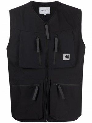 Жилет на молнии с карманами Carhartt WIP. Цвет: черный