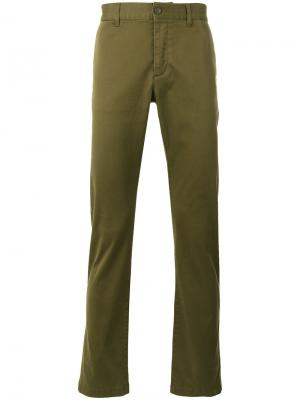 Классические брюки-чинос Saint Laurent. Цвет: зелёный