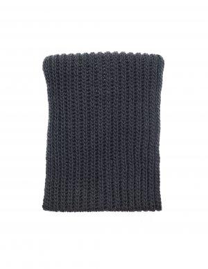 Серый вязаный снуд из шерсти Yohji Yamamoto