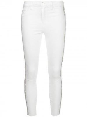 LAgence укороченные джинсы скинни с завышенной талией L'Agence. Цвет: белый