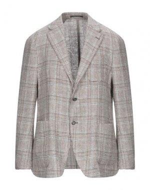Пиджак ROYAL ROW. Цвет: коричневый