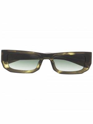 Солнцезащитные очки в квадратной оправе FLATLIST. Цвет: зеленый